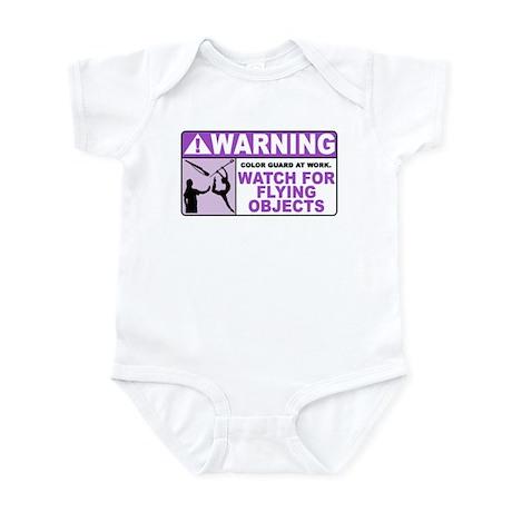 Flying Objects, Purple Infant Bodysuit