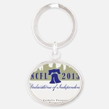 NCFL 2013 Logo with text Oval Keychain