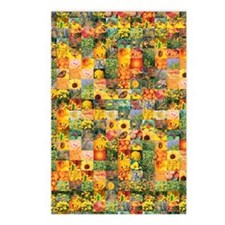 Spring Flower Patchwork Q Postcards (Package of 8)