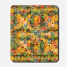 Spring Flower Patchwork Quilt Mousepad