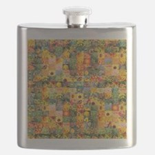 Spring Flower Patchwork Quilt Flask