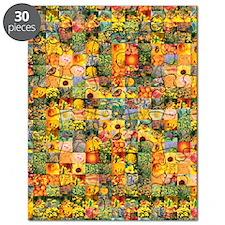 Spring Flower Patchwork Quilt Puzzle