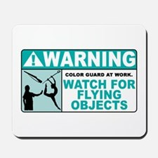 Flying Objects, Teal Mousepad