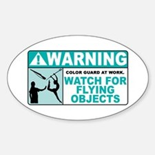 Flying Objects, Teal Oval Decal