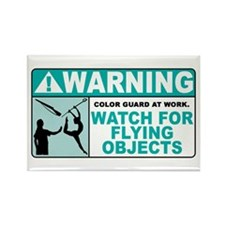 Flying Objects, Teal Rectangle Magnet