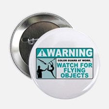 """Flying Objects, Teal 2.25"""" Button (10 pack)"""