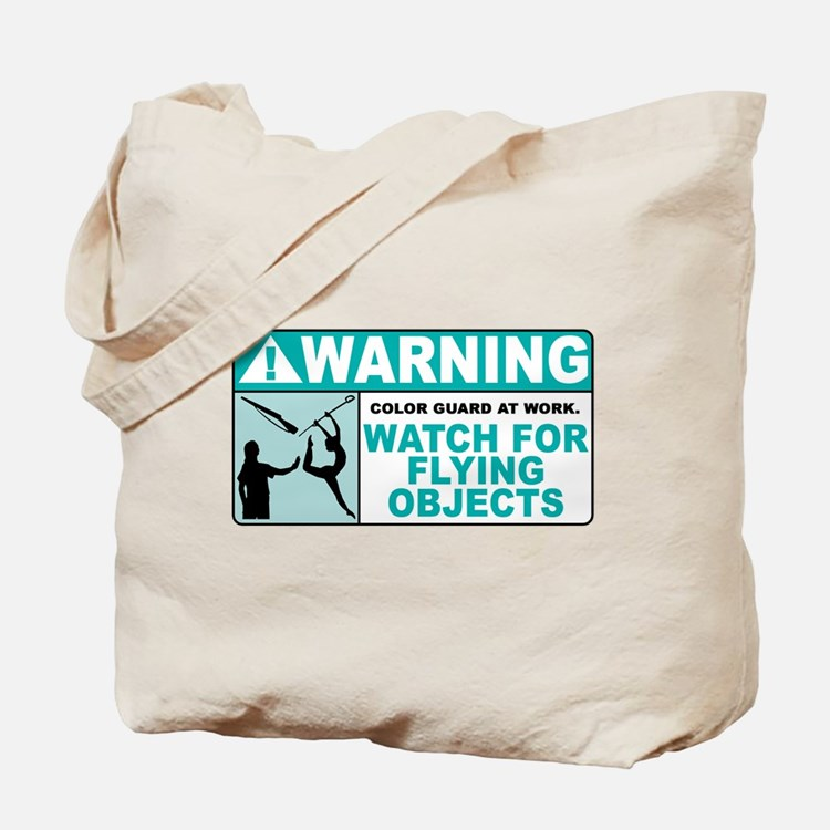 Flying Objects, Teal Tote Bag