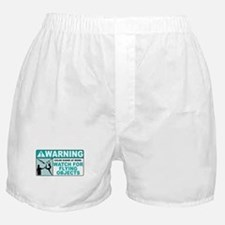 Flying Objects, Teal Boxer Shorts