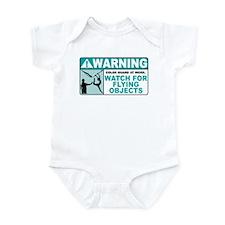Flying Objects, Teal Infant Bodysuit