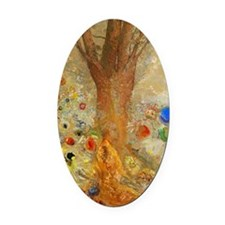 Odilon Redon Buddha In His Youth. Oval Car Magnet