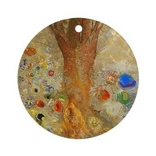 Odilon Redon Buddha In His Youth. Round Ornament