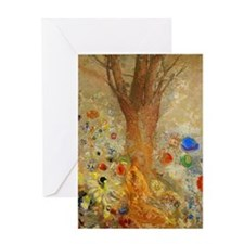 Odilon Redon Buddha In His Youth. Greeting Card