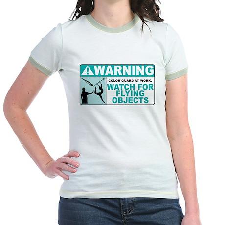 Flying Objects, Teal Jr. Ringer T-Shirt