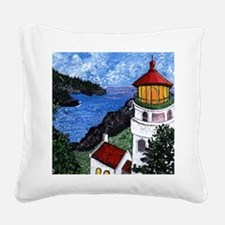 Heceta Head Lighthouse, Orego Square Canvas Pillow