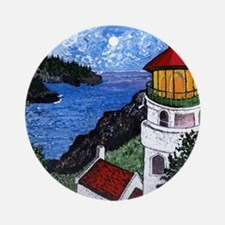 Heceta Head Lighthouse, Oregon Round Ornament