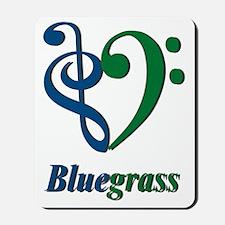 Treble_Bass_Bluegrass_BlueGreen Mousepad