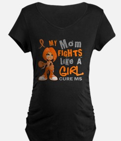 D Mom Fights Like Girl MS 4 T-Shirt