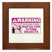 Flying Objects, Pink Framed Tile