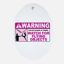 Flying Objects, Pink Oval Ornament