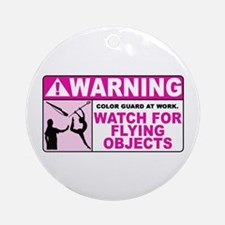 Flying Objects, Pink Ornament (Round)