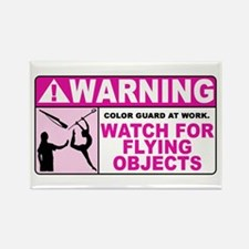 Flying Objects, Pink Rectangle Magnet