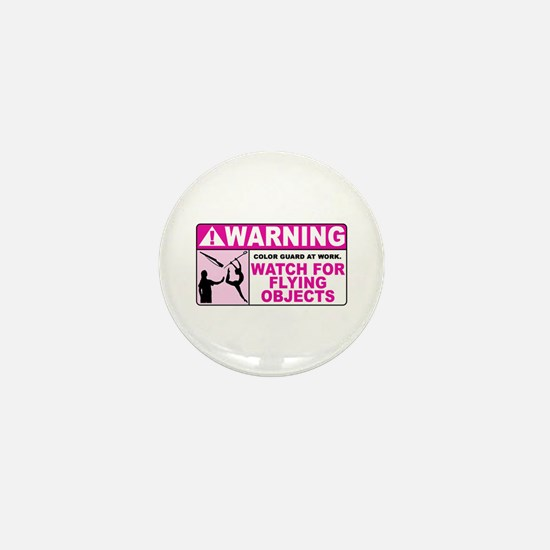 Flying Objects, Pink Mini Button