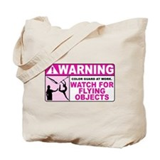 Flying Objects, Pink Tote Bag