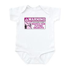 Flying Objects, Pink Infant Bodysuit
