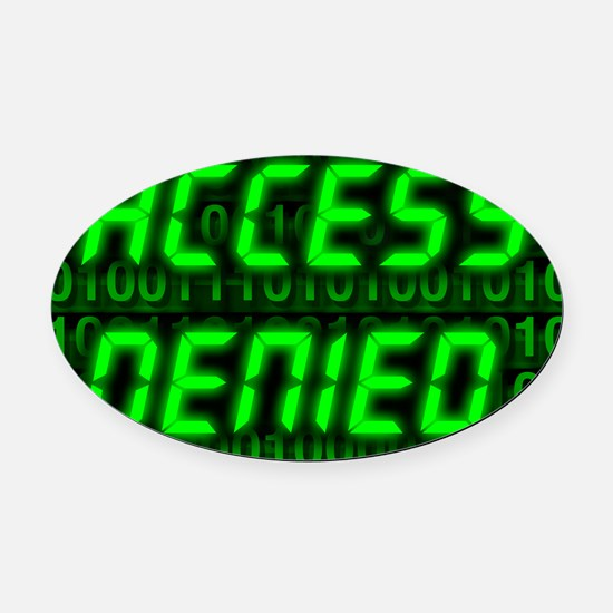 Electronic security Oval Car Magnet