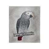 African grey parrot Blankets