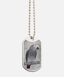 Profile of a Timneh Dog Tags