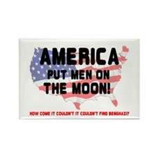 AMERICA PUT MEN ON THE MOON! Rectangle Magnet