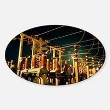 Electricity substation at night Decal