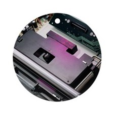Flatbed scanner Round Ornament