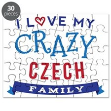 I Love My Crazy Czech Family Puzzle
