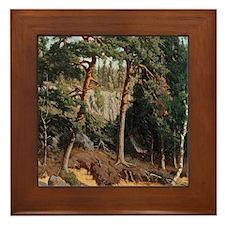 Fanny Churberg In The Forest Framed Tile