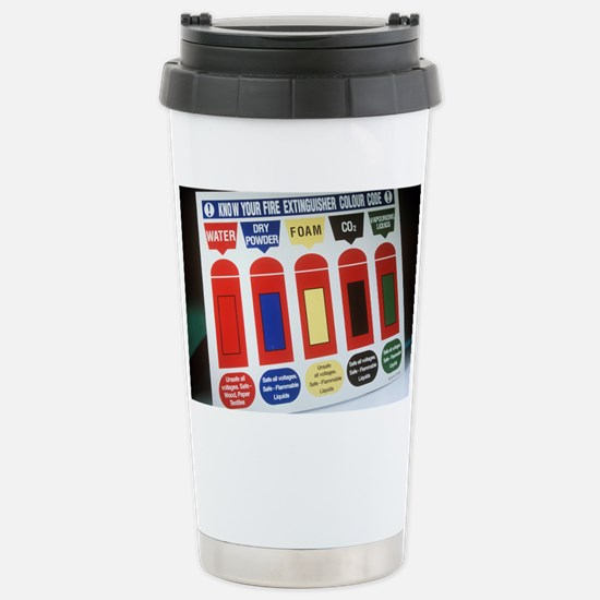 Fire extinguisher codes Stainless Steel Travel Mug