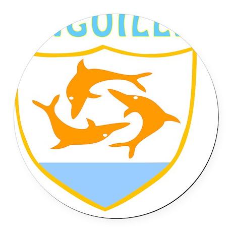 Anguilla coat of arms Round Car Magnet