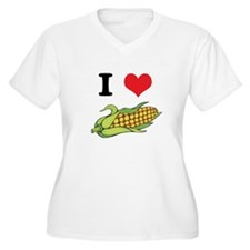 I Heart (Love) Corn (On the C T-Shirt