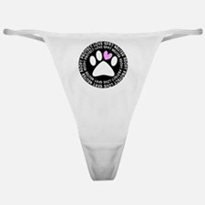 spay neuter adopt BLACK OVAL Classic Thong