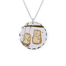 Cute Cartoon Hedgehog couple Necklace