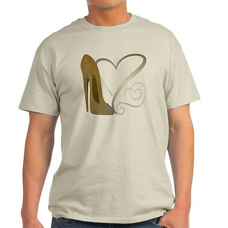 Vintage Stiletto Shoe Hearts Light T-Shirt