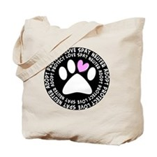 spay neuter adopt BLACK OVAL Tote Bag