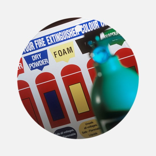 Fire extinguisher codes Round Ornament