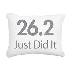 26.2 Just Did It Rectangular Canvas Pillow