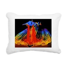 Flight simulation of a h Rectangular Canvas Pillow