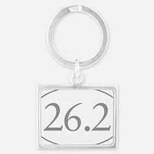 26.2 Marathon Distance Landscape Keychain