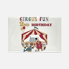 Circus Fun 2nd Birthday Rectangle Magnet