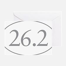 26.2 Marathon Distance Greeting Card