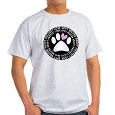 spay neuter adopt BLACK OVAL T-Shirt